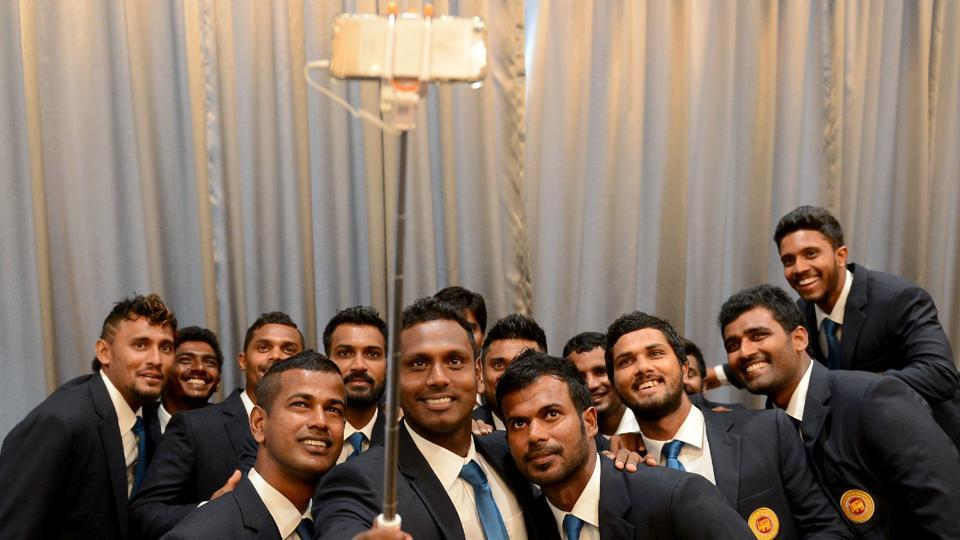 Sri Lanka, led by Angelo Mathews, will be eying a good show in the upcoming ICC Champions Trophy in England. (AFP)