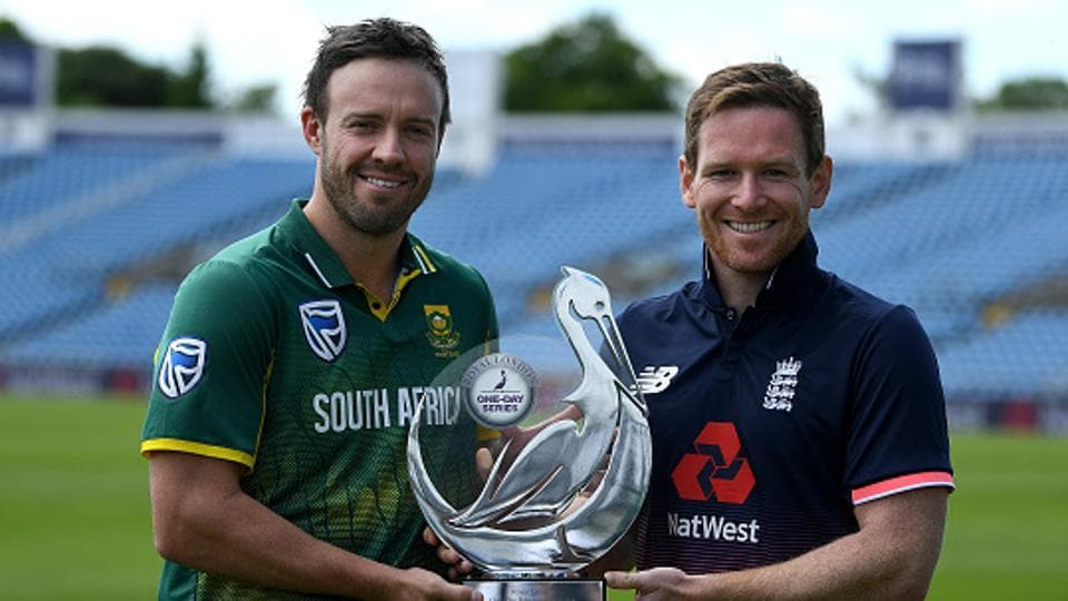 Eoin Morgan-led England are scheduled to play a three-match ODI series against AB de Villiers' SouthAfrica, starting Wednesday.