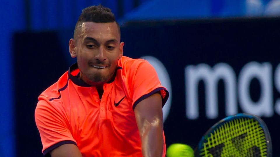 Nick Kyrgios' French Open preparations have taken a hit after he lost in the first round of the Lyon Open 94th-ranked Nicolas Kicker  in three sets.