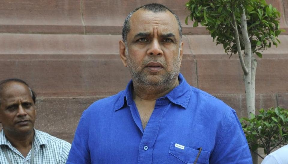Film actor and BJP leader Paresh Rawal at the Parliament House in New Delhi. Rawal's tweet about author Arundhati Roy had triggered an online rage.