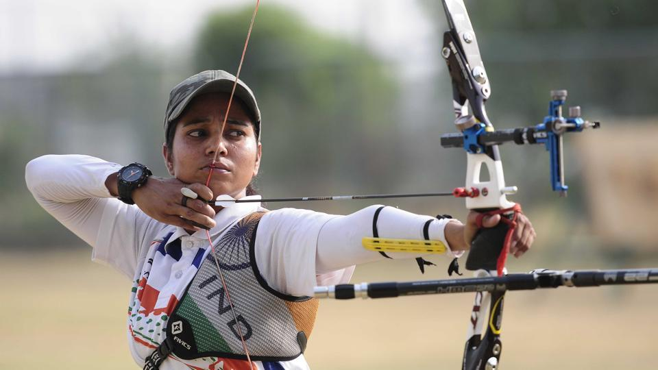 Daughter of a scrap dealer barely able to make ends meet, this 26-year-old Pooja Rani is the country's first para-archer to compete in the Olympics.  (HT Photo)