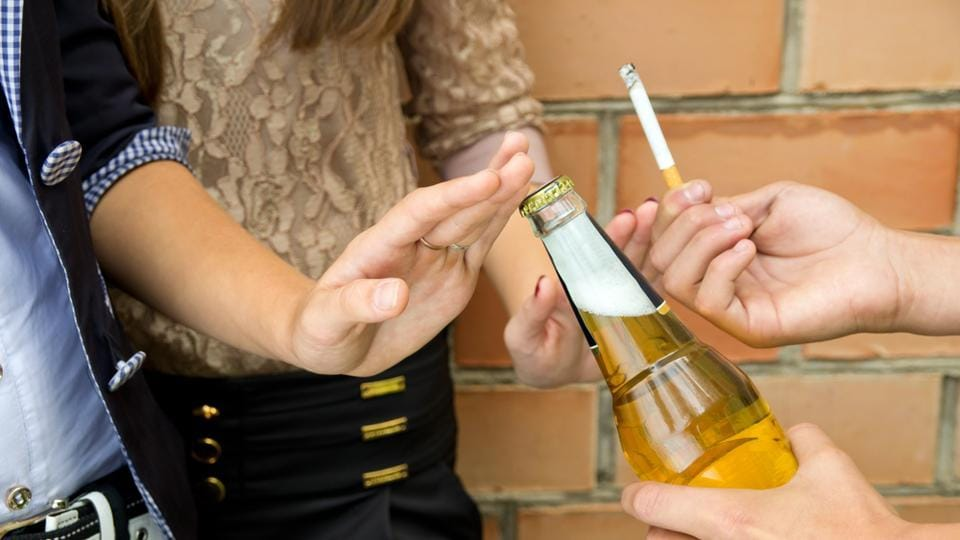 Making adolescents aware of alcohol and smoking related harm can help prevent risky health behaviours.