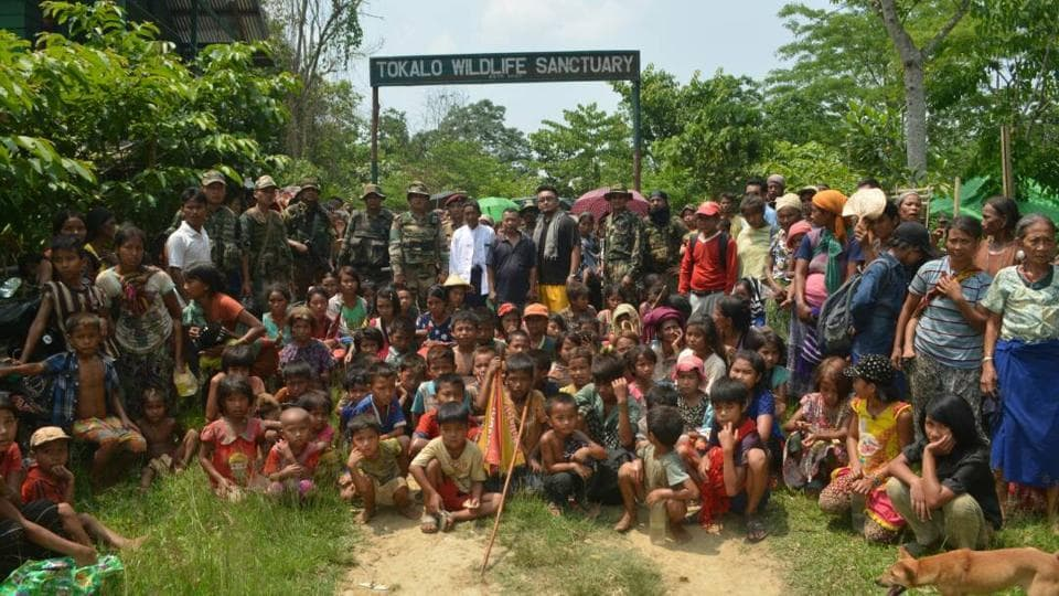 The Myanmar refugees who were repatriated on Thursday.