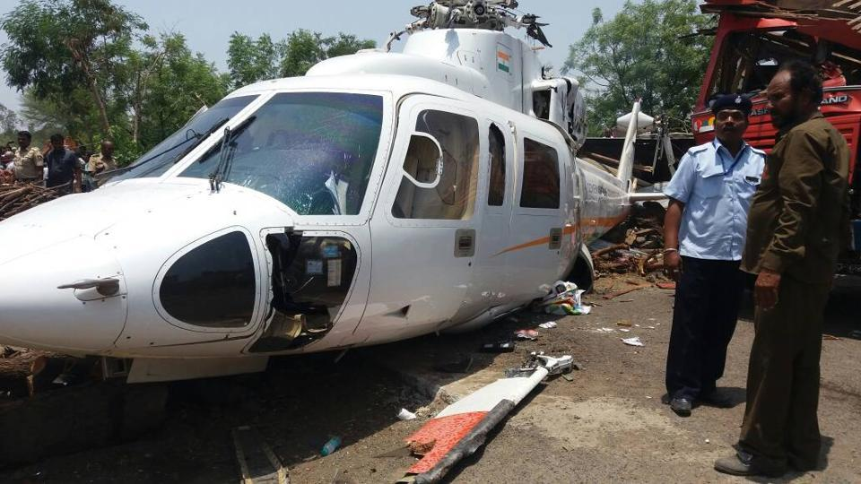 The chopper that crash-landed.