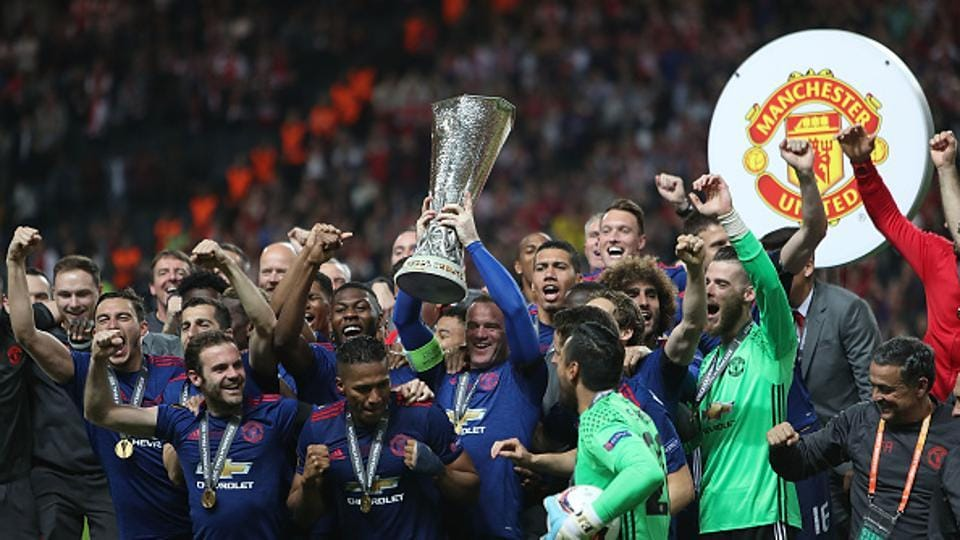 Manchester United, led by Paul Pogba and Henrikh Mkhitaryan, beat Ajax 2-0 to win the Europa League - thus confirming their qualification for the Champions League next season.
