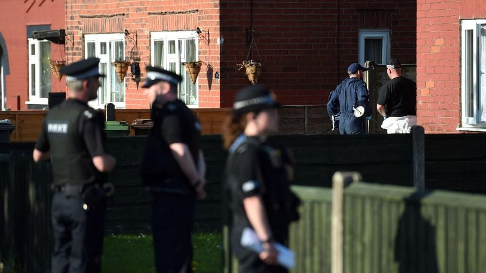 Police activity at an address in Elsmore Road, in connection with the concert blast at the Manchester Arena, in Manchester, England on May 24.
