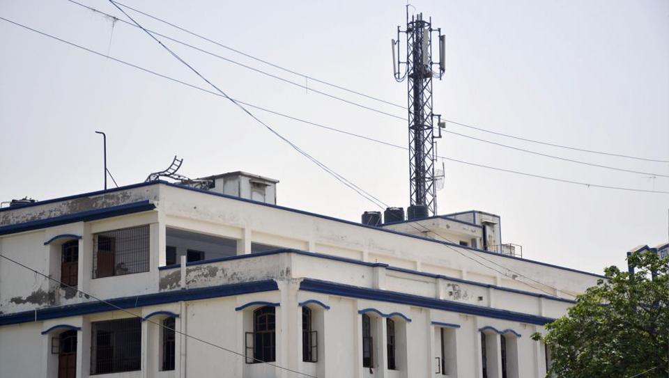 Towers are installed on rooftops of residential highrises or other buildings. There are also instances where the towers are installed on school buildings in Ghaziabad.