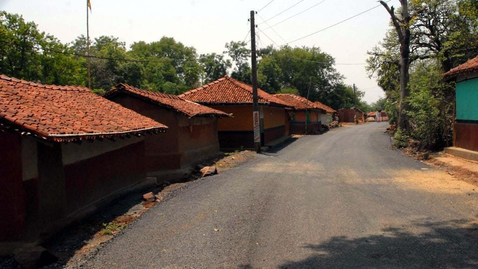 Deserted Nagadih village as villagers fled after locking their houses in fear of arrest after recent violence on a lynching incident in Jamshedpur