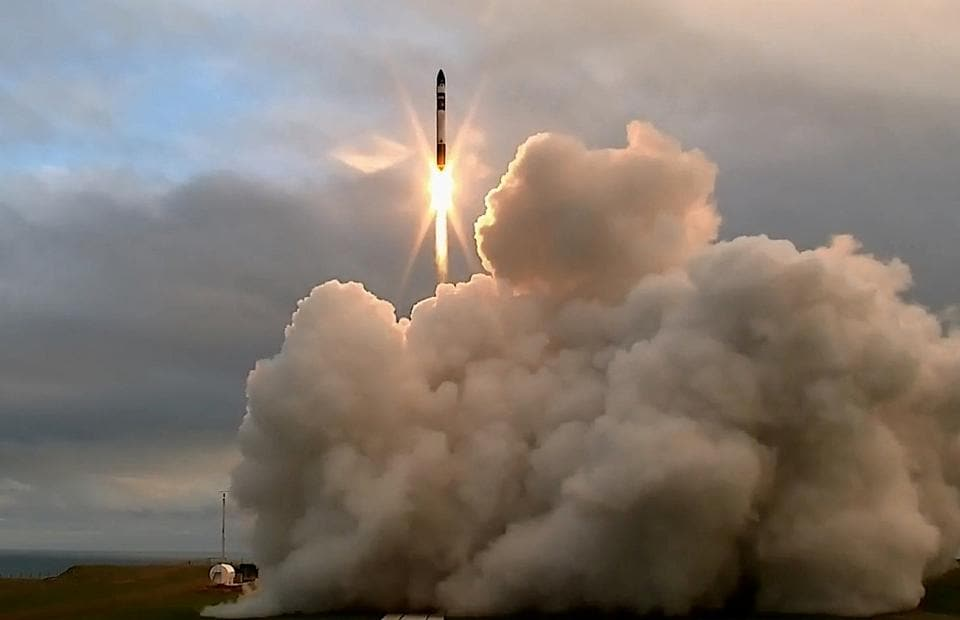 The launch and maiden flight of a battery-powered, 3-D printed rocket built by Rocket Lab, a Silicon Valley-funded space launch company, at New Zealand's remote Mahia Peninsula  on Thursday.
