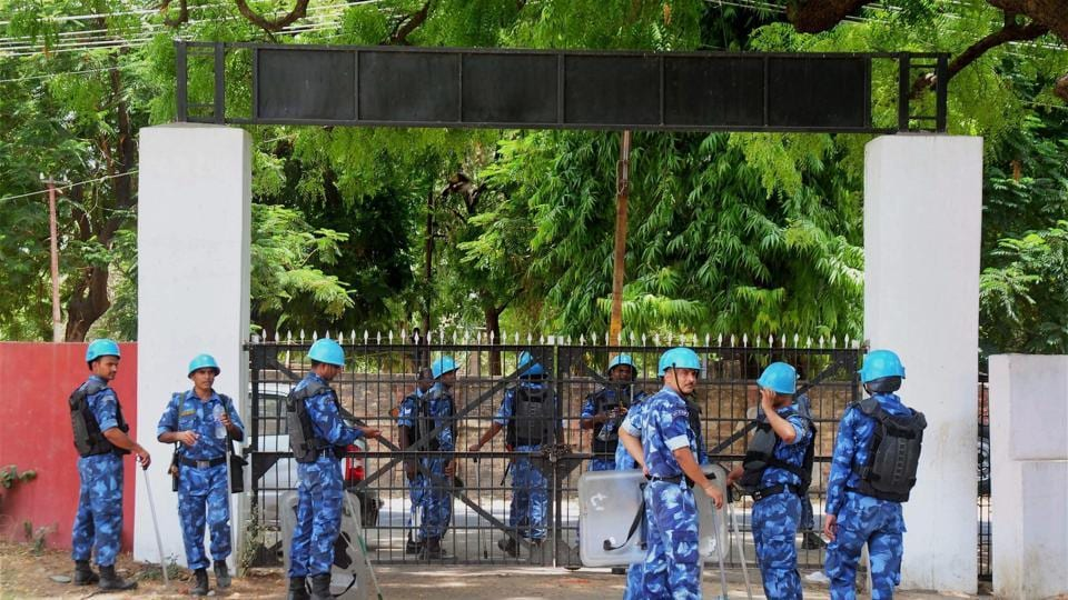 File photograph of Rapid Action Force (RAF) personnel. The Centre on Thursday sent 400 RAF men to Saharanpur to help local police to stop caste violence.