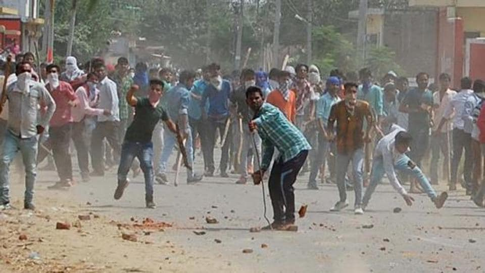 Violence in Saharanpur, West UP, has flared in sporadic instances of rioting and arson since May 5 when Rajput and Dalit communities first fought over a procession.