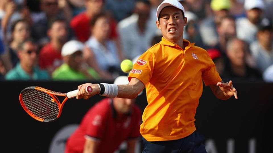 Kei Nishikori's run to the 2015 French Open quarter-final is his best performance in Paris.  (Getty Images)