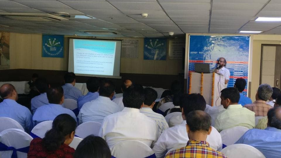 A workshop on filing tax returns was held at the I-T office in Sector 24 from 4pm-5pm