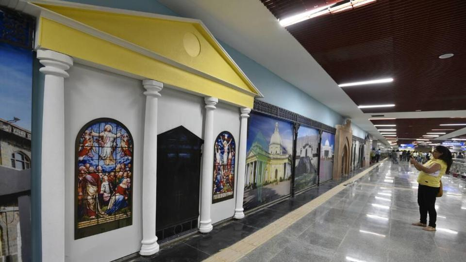 Red Fort  Metro station on the Heritage Line will be opened for commuters on Sunday.