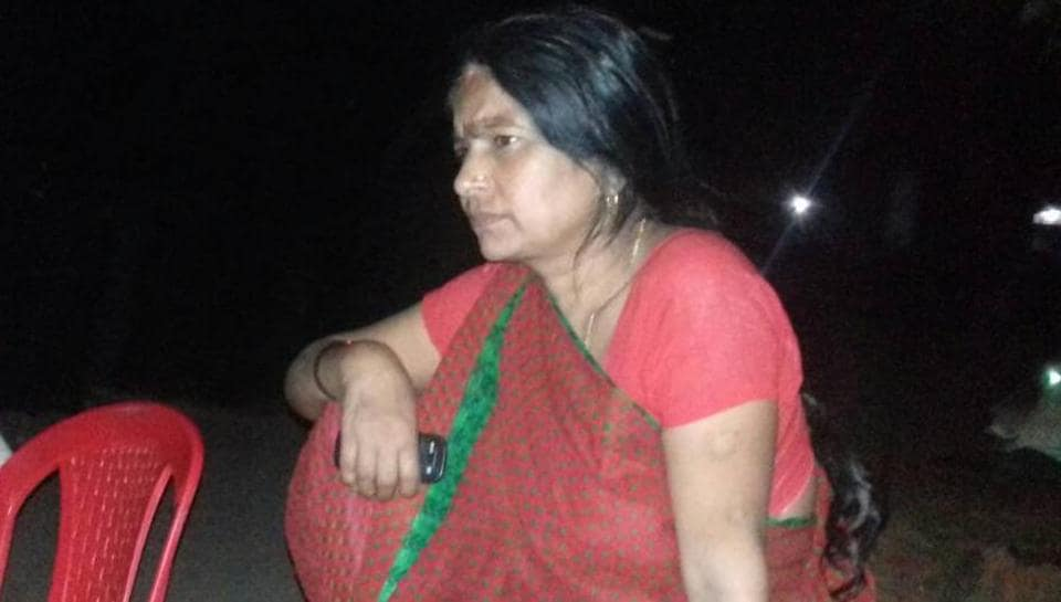 A distraught Mira Devi who has disowned her husband after losing civic polls in Bhabua.