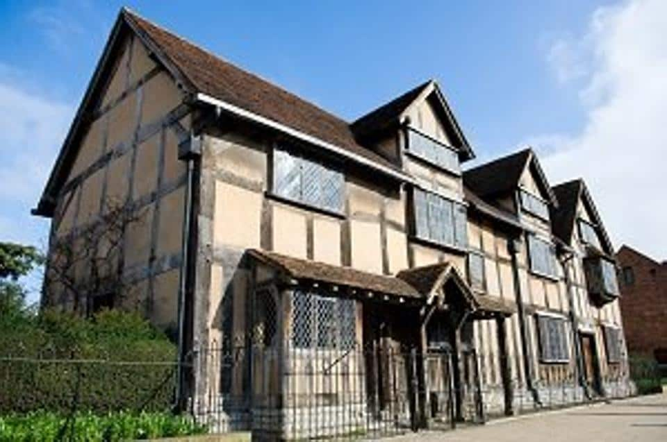 William Shakespeare's birthplace at Henley Street, Stratford-upon-Avon, where it is believed the bard was born.