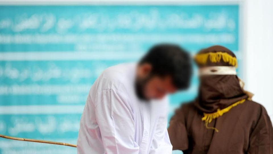 The pair, aged 20 and 23, were found guilty of having broken sharia rules in conservative Aceh province  the only part of Indonesia that implements Islamic law . (CHAIDEER MAHYUDDIN / AFP)