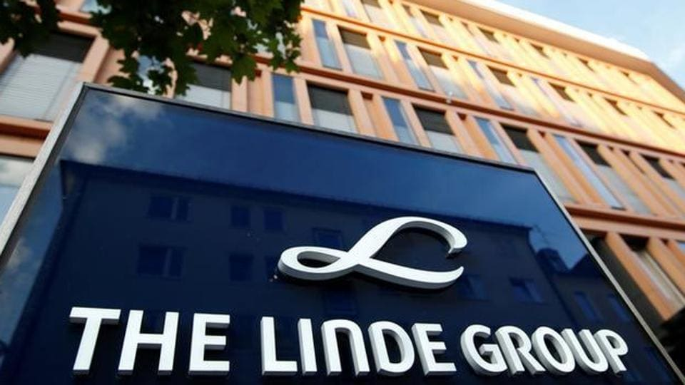 Linde Group headquarters is pictured in Munich.