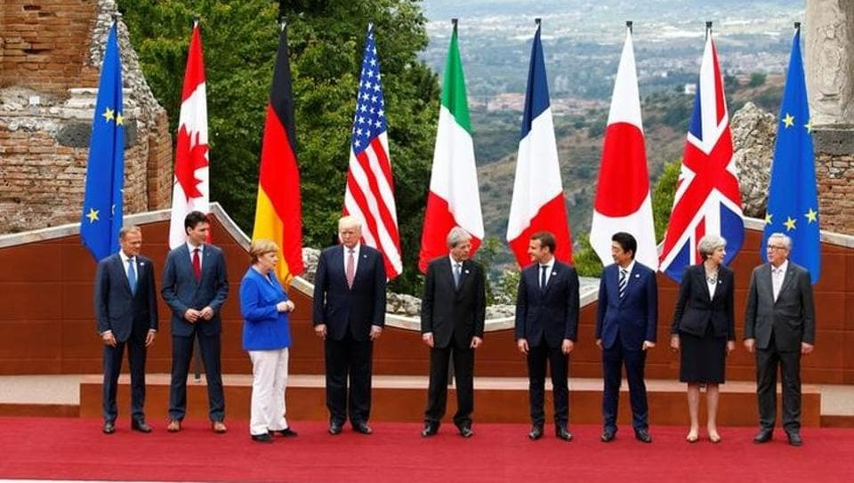 G7 leaders make progress on trade, remain split on climate change