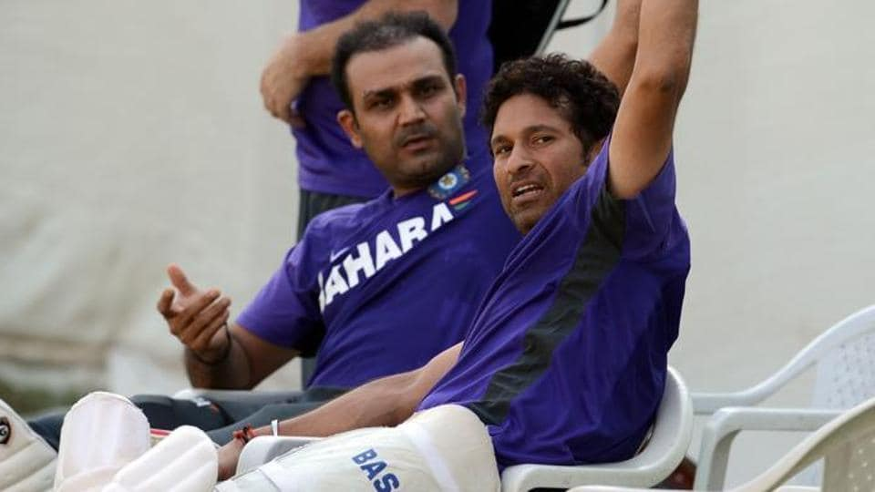 Virender Sehwag could not attend the premier of Sachin Tendulkar's biopic 'Sachin: A Billion Dreams' as he was away on holiday with his wife, Aarti.