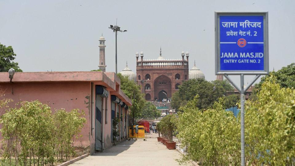 A view of Jama Masjid metro station during the press preview in New Delhi on Friday ahead of the inauguration of Metro's Heritage Line. It is expected that the Delhi metro will surpass the mass-transits in Moscow, Seoul and Tokyo metro network. (PTI)