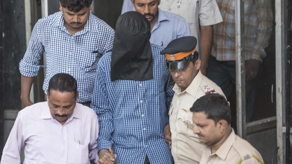 Siddhant Ganore was produced at a Bandra court after allegedly stabbing his mother at their house in Santacruz