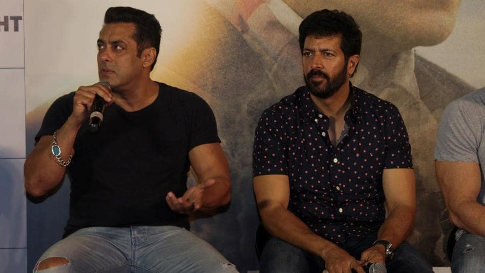 Salman Khan and Kabir Khan during the trailer launch of the film Tubelight in Mumbai on May 25, 2017.