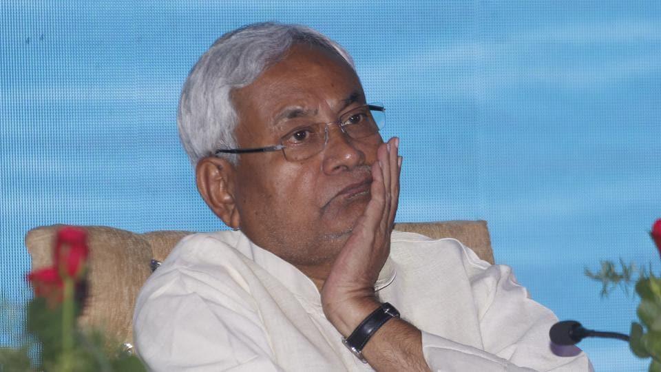 Bihar chief minister Nitish Kumar during a program in New Delhi on May 18.