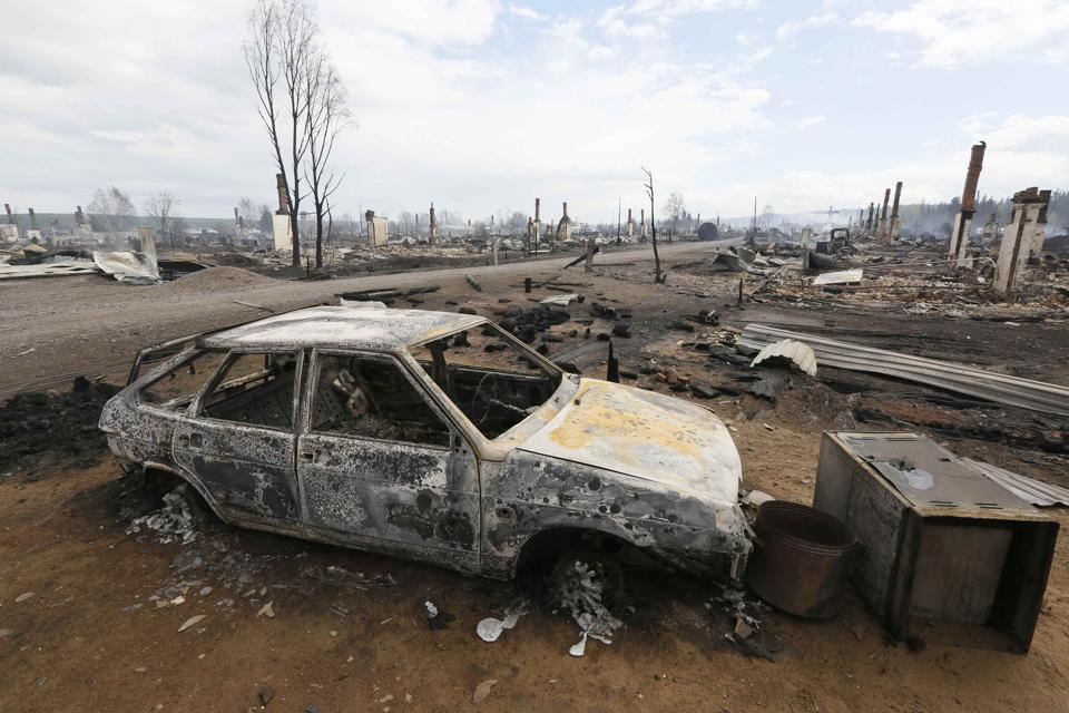 Those heaviest hit by the fires are the towns of Lesosibirsk and Kansk, and settlements in the Nizhneinshagsky and Biryulyussky districts.  (Ilya Naymushin  / Reuters)