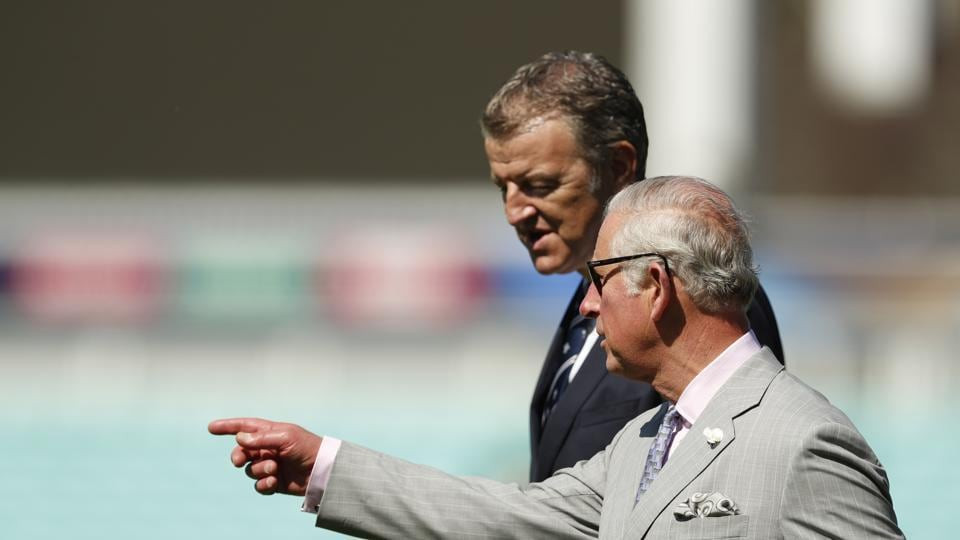 Prince Charles interacts with Surrey County Cricket club chairman Richard Thompson as the ICC Champions Trophy 2017 preparation gathers momentum. (REUTERS)