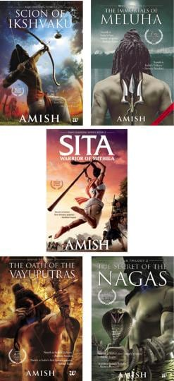Author Amish Tripathi is known for his novels The Immortals of Meluha, The Secret of the Nagas, The Oath of the Vayuputras and Scion of Ikshvaku.