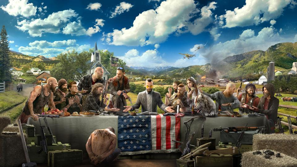 The box art released by Ubisoft for Far Cry 5.