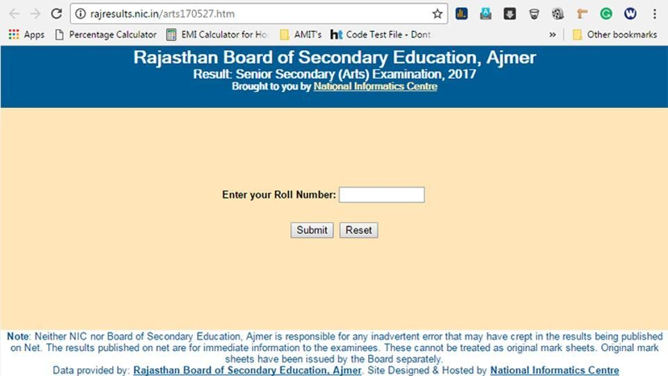 Rajasthan class 12 arts results 2017 declared check them here rajasthan board of secondary education rbse on saturday declared its senior secondary class malvernweather Gallery
