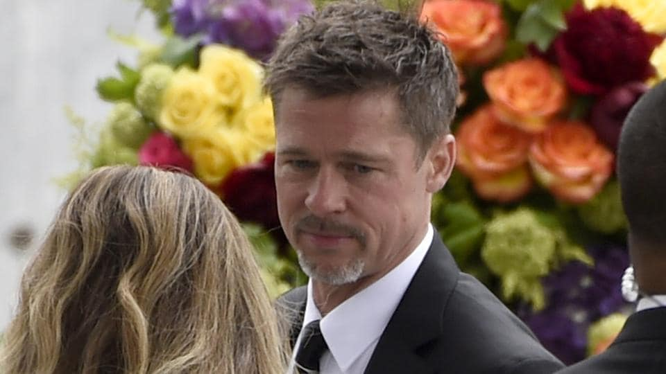 Brad Pitt attends a memorial service for Chris Cornell at the Hollywood Forever Cemetery on Friday.