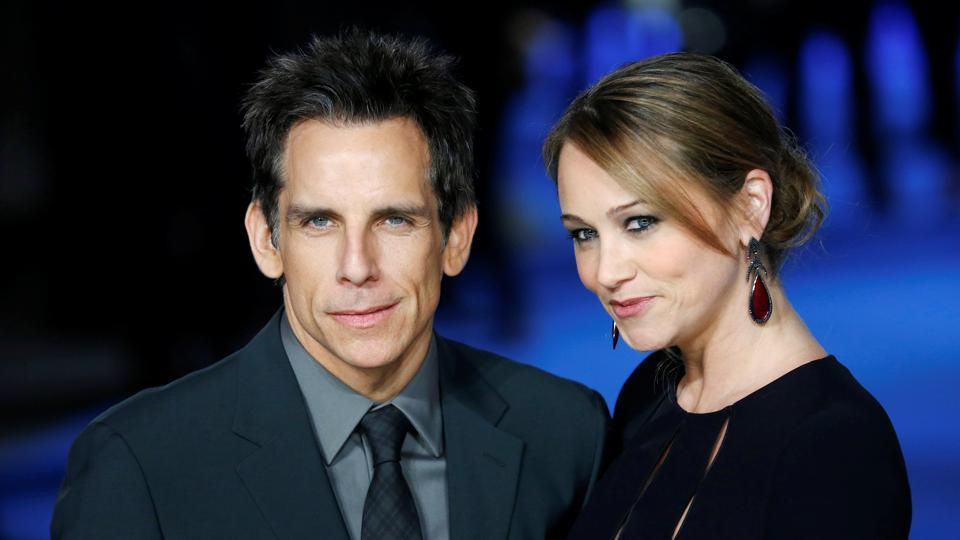 Actor Ben Stiller and wife Christine Taylor arrive for the European premiere of Night at the Museum: Secret of the Tomb at Leicester Square in London December 15, 2014.