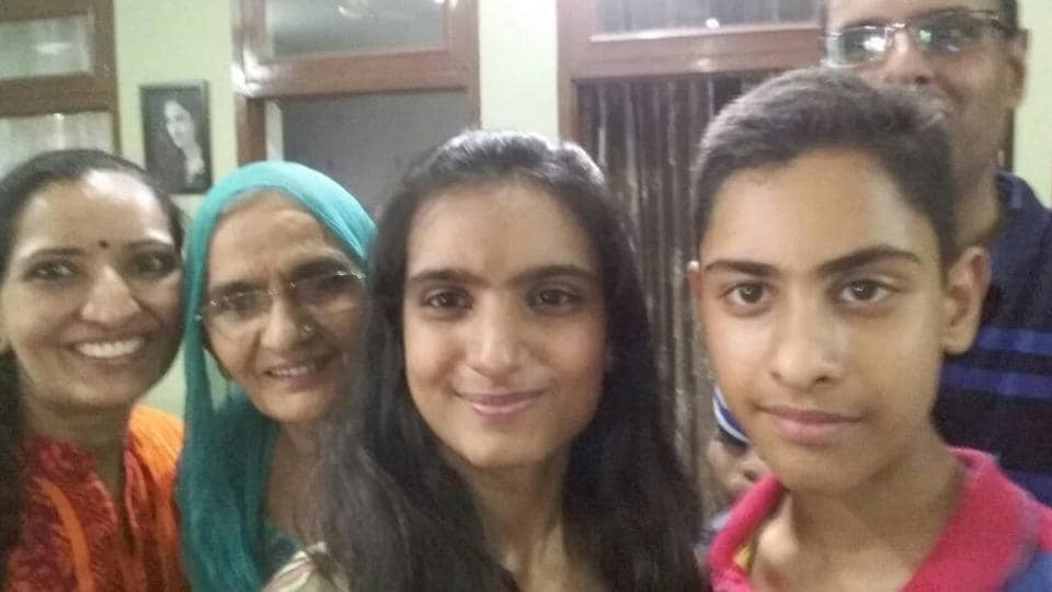 Bhoomi Sawant of DAV School, Sector 8, Chandigarh secured all-India 2nd rank with 99.4% in Science stream. (HT Photo)