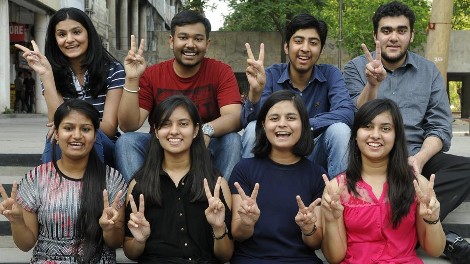 Toppers from Chandigarh (HT Photo)
