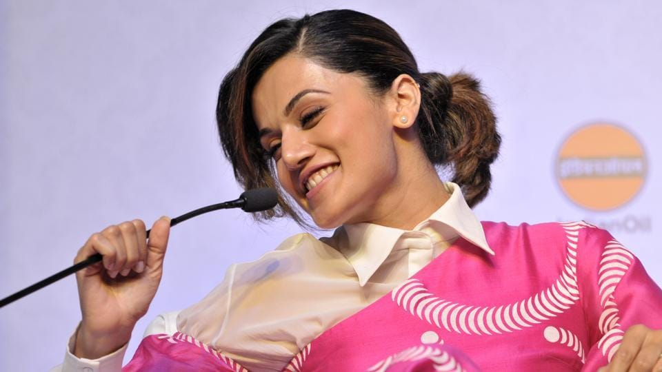 Taapsee Pannu at HTYouth Forum 2017 event inChandigarh.