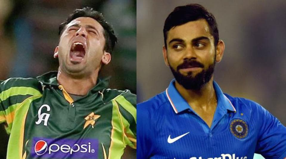 Junaid Khan (L) has highlighted his record against Virat Kohli ahead of the India vs Pakistan match in ICC Champions Trophy 2017.