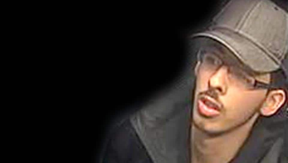 A handout CCTV photograph digitally altered to remove the context at source, released by Greater Manchester Police, shows Salman Abedi on the night of the Manchester Arena blast.