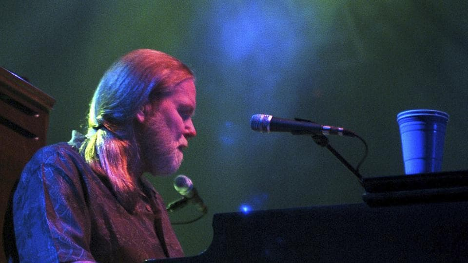 In this Saturday, September 17, 2005 file photo, Gregg Allman of the Allman Brothers Band performs at the Mid-America Centre in Council Bluffs, Iowa, as part of their Antigone Rising Tour.