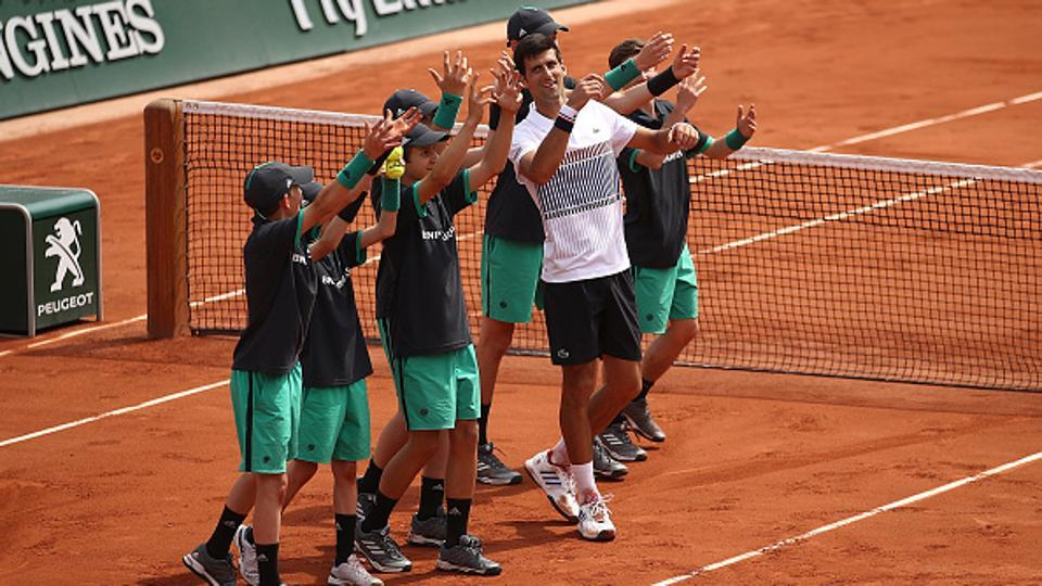 Defending champion Novak Djokovic dispatched Marcel Granollers 6-3, 6-4, 6-2 to reach the second round of 2017 French Open.  (Getty Images)