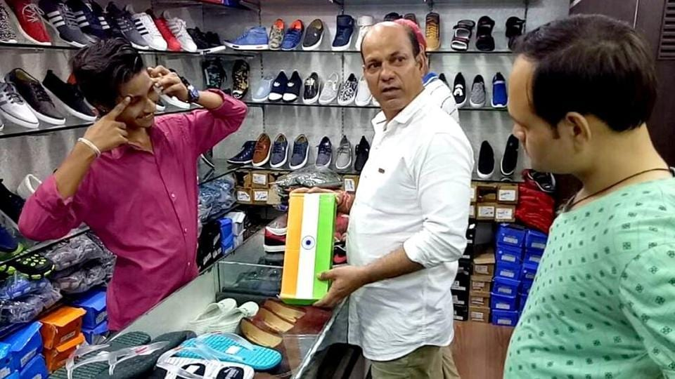 Mahesh Rao said the shoe boxes arrived from a Delhi firm about 10 days ago.