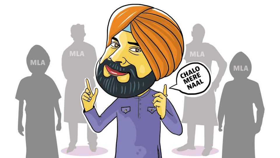 """Go local"" appears to be the mantra of local bodies minister Navjot Singh Sidhu. He makes sure that all local MLAs of the Congress are with him when he goes to any inauguration or function."
