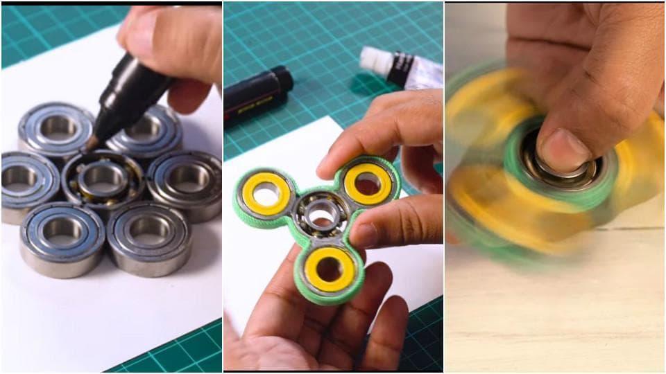 A DIY tutorial on fidget spinners.