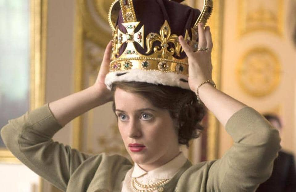 Claire Foy plays Queen Elizabeth II in the Netflix show.