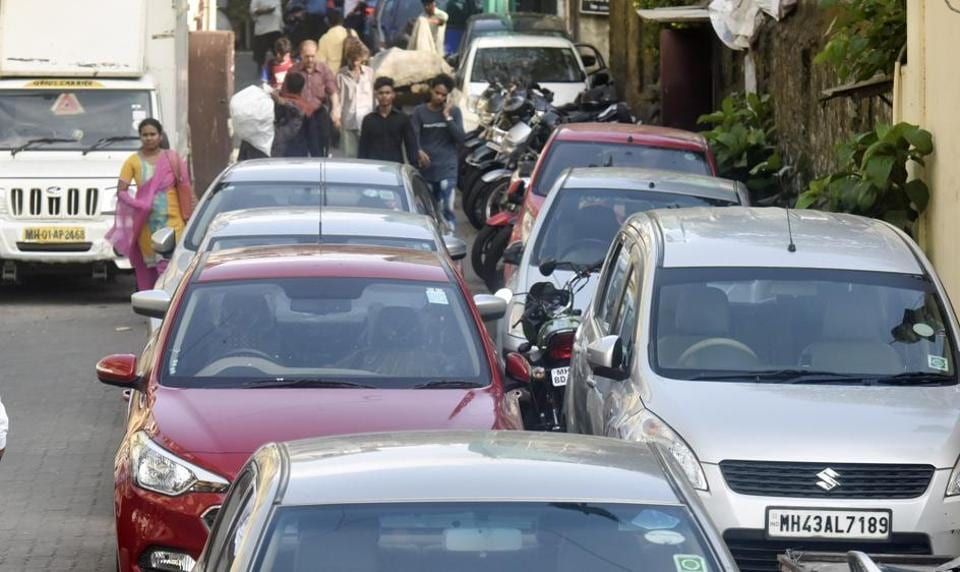 Double parking on narrow streets across is a common problem across Mumbai.