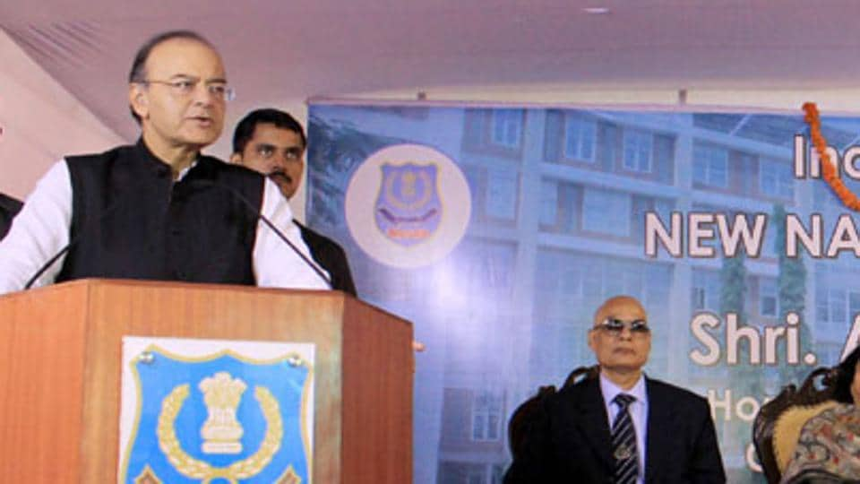 Finance minister Arun Jaitley addressing at the inauguration of the new building of National Academy of Customs, Indirect Taxes and Narcotics (NACIN), in Bengaluru.