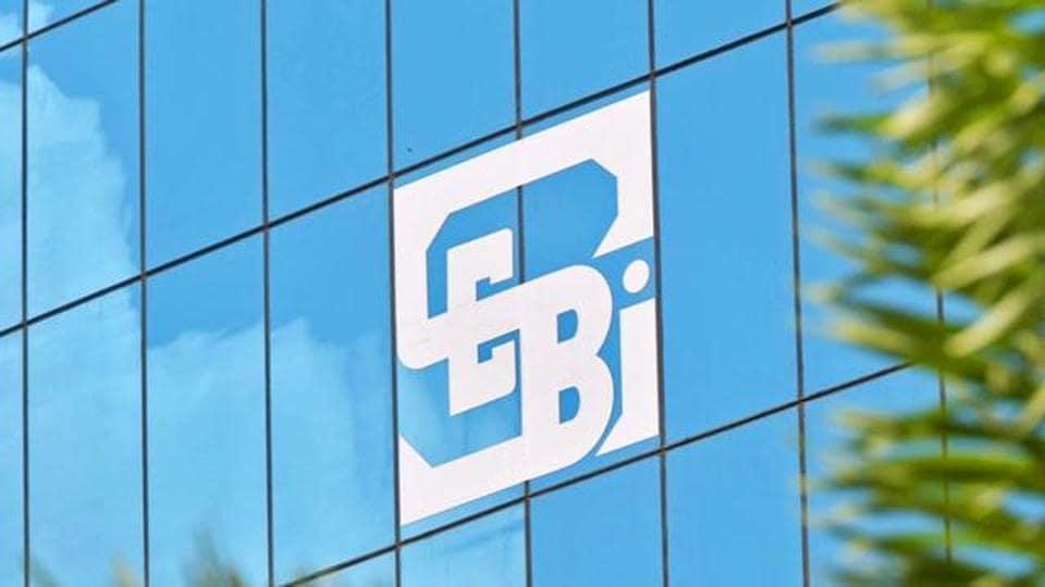 SEBI logo outside the regulators's office.