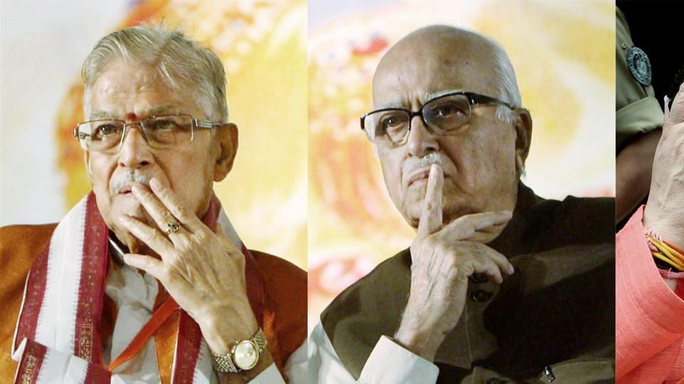 File photo of BJP leaders L K Advani, Murli Manohar Joshi and Uma Bharti. They will appear at a CBI special court in Lucknow on Tuesday for charges to be framed after the Supreme Court  last month restored criminal conspiracy charges against them  in the Babri Masjid demolition case.
